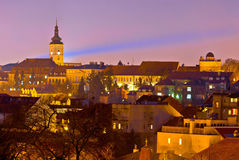 Zagreb historic upper town night view Stock Images