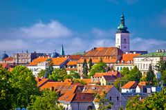 Zagreb historic upper town skyline view Stock Photo