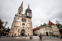 Zagreb katedra na Kaptol, Chorwacja Obraz Royalty Free