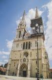 Zagreb-Kathedrale stockbild