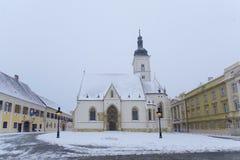 ZAGREB, KROATIË - MAART 2015: De Kerk van heilige Markin Zagreb Stock Afbeelding
