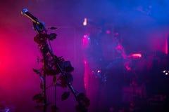 """Zagreb Kroatien†""""kan 30 2019 Konsert av den gotiska rockbandet Christian Death f?r kult i Zagreb arkivbild"""