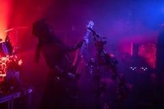 """Zagreb Kroatien†""""kan 30 2019 Konsert av den gotiska rockbandet Christian Death f?r kult i Zagreb royaltyfria foton"""