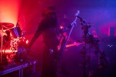 """Zagreb Kroatien†""""kan 30 2019 Konsert av den gotiska rockbandet Christian Death f?r kult i Zagreb arkivfoto"""