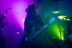 """Zagreb Kroatien†""""kan 30 2019 Konsert av den gotiska rockbandet Christian Death f?r kult i Zagreb royaltyfri foto"""