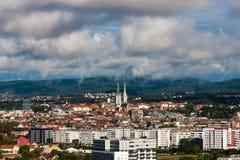 Zagreb Kroatien Arkivfoto