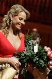 Elina Garanca hielt ein Konzert in Konzertsaal Lisinski. Stockfotografie