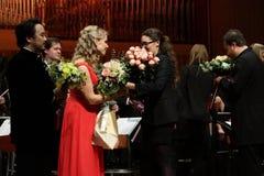 Elina Garanca hielt ein Konzert in Konzertsaal Lisinski. Lizenzfreie Stockfotografie
