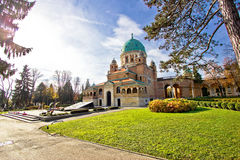 Zagreb mirogoj cemetary monumental architecture Royalty Free Stock Photos