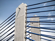 Zagreb: modern bridge. Detail  of a new highway bridge - Domovinski most -  in Croatia near Zagreb Royalty Free Stock Images