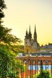 Zagreb morgens stockfotografie