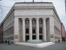 Zagreb: National Bank croata Foto de archivo