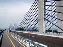 Zagreb: nieuwe wegbrug Royalty-vrije Stock Afbeeldingen