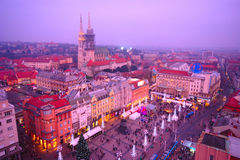 Zagreb by Night, Croatia Stock Photo