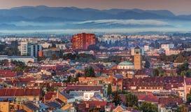 Zagreb no nascer do sol Imagem de Stock Royalty Free