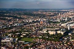 Zagreb od powietrza Zdjęcie Stock