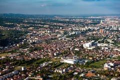 Zagreb od powietrza Obraz Stock