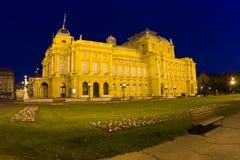 Zagreb - Oud theater stock afbeeldingen
