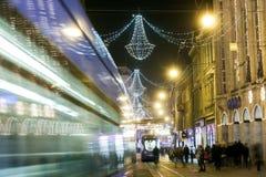 Zagreb på adventtid Fotografering för Bildbyråer