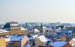 Zagreb panorama Royalty Free Stock Photos
