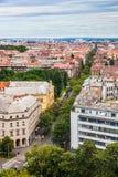 Zagreb, panorama royalty-vrije stock afbeeldingen