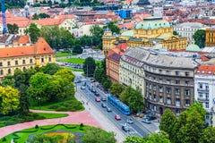 Zagreb, panorama royalty-vrije stock foto