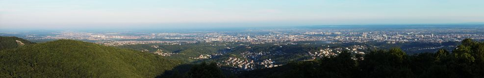 Zagreb panorama. View from the hill royalty free stock photo