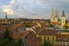 Zagreb panorama Royaltyfri Foto