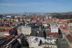 Zagreb panorama Stock Photo