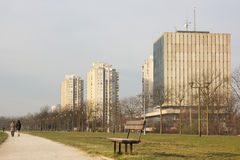 Zagreb parkerar Arkivbilder
