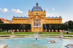 Zagreb - pavillion del arte, Croacia fotografía de archivo