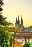 Zagreb por la mañana fotografía de archivo