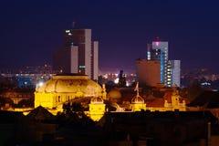 Zagreb por noche fotos de archivo libres de regalías