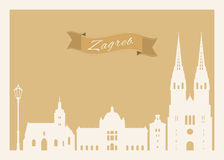 Zagreb postcard Stock Photography