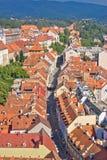 Zagreb Radiceva street aerial view Royalty Free Stock Image