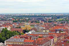 Zagreb roofs Royalty Free Stock Image