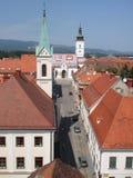 Zagreb, rue Marko Photos libres de droits