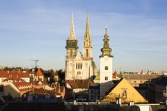 Zagreb's Cathedral Royalty Free Stock Image