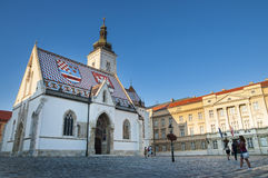 Zagreb, Saint Mark church Stock Photo
