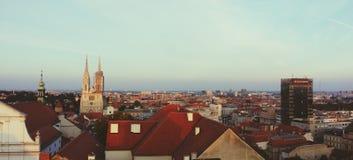 Zagreb sikt arkivbild