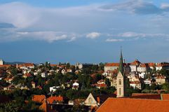 Zagreb skyline. ZAgreb, capital of Croatia, part of the city Stock Photography