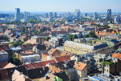 Zagreb skyline Stock Photos