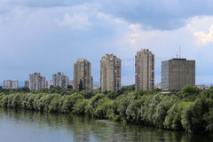 Zagreb/Socialistische Architectuur stock foto's