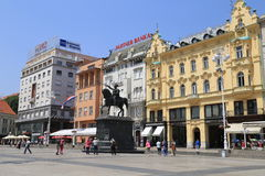 Zagreb square Royalty Free Stock Photography