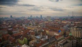 Zagreb-stad scape royalty-vrije stock afbeelding
