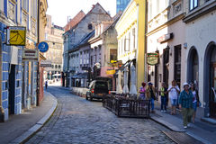 Zagreb-Stadtzentrum Stockbilder