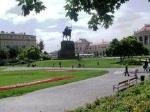 Zagreb : stationnement Zrinjevac Image stock