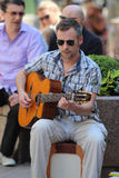 Zagreb / Street Guitar Player Royalty Free Stock Photo