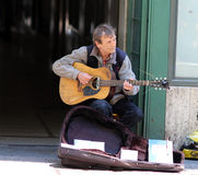 Zagreb / Street Musician / Elderly Guitar Player Royalty Free Stock Photo