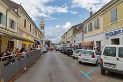 Zagreb street in Porec, Crioatia. Stock Image